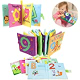 Coolplay My First Soft Cloth Book Early Learning Development Toy for Babies - Letters Number Shapes and Animals