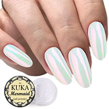 Shell Pearl Effect Powder Nail Art Accessories Chameleon Mermaid