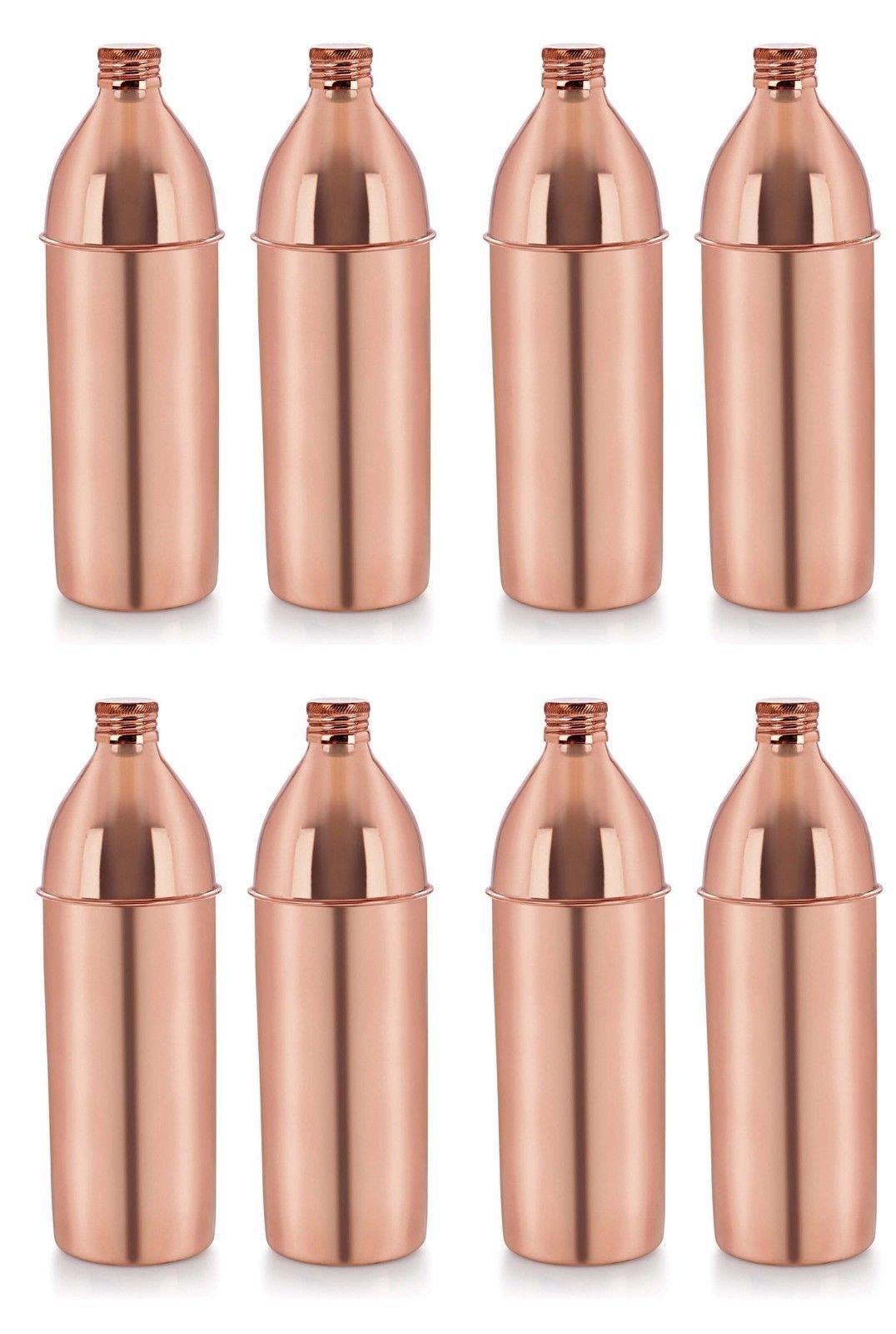 Dadu_creation Best Quality Pure Copper 8 Bottle set 1000 ML Water Bottle For Health Benefits