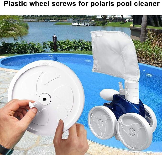 iPenty Tornillos de plástico para ruedas, limpiador de piscina ...