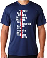 Dr Who Regenerations T-shirt Mens Comedy Tee Mashup T Shirt Black ScreenPrinted Design All Sizes
