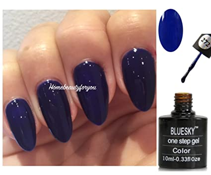 Blue Sky One Step 272 Neon minuit Bleu marine Vernis à ongles gel UV LED  Soak