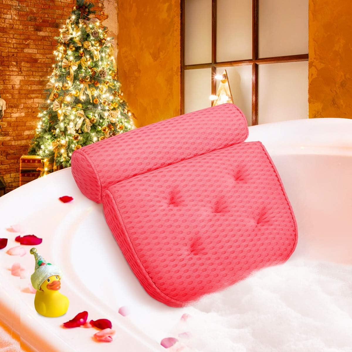 FGHB Badewannenkissen,Komfort badewanne kopfkissen mit Saugn/äpfen,badewanne nackenpolste f/ür Home Spa Whirlpools Badekissen Kopfst/ütze