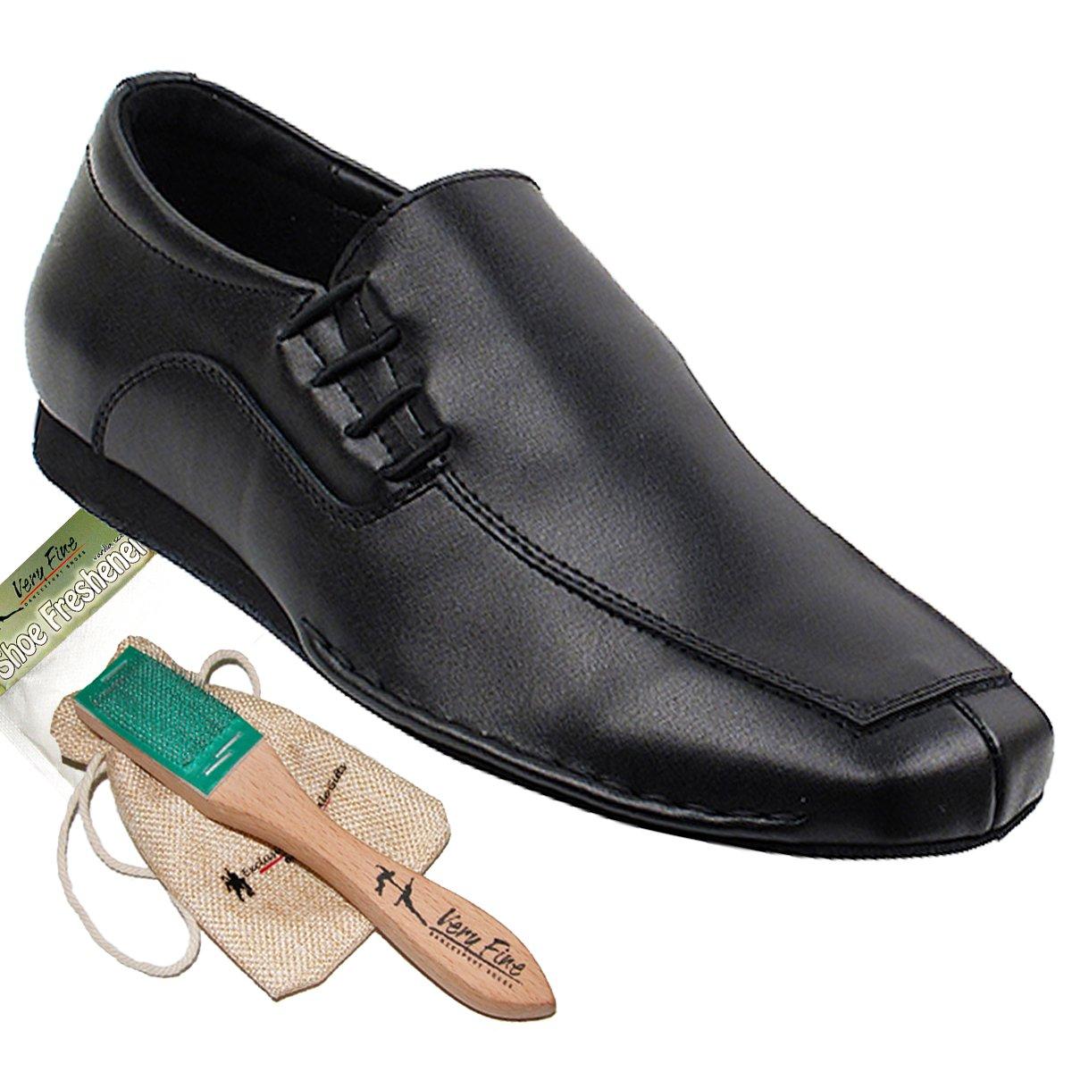 Men's Ballroom Dance Shoes Salsa Tango Latin Shoes Black Leather SERO102BBXEB Comfortable - Very Fine 9.5 M US [Bundle of 5]