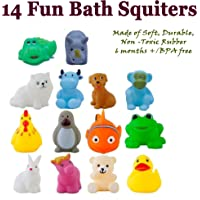 Wish key Baby's Plastic Bath Toys (Multicolour) - Set of 14
