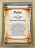 PERSONALISED FIRST NAME MEANING & ORIGIN GIFT in a Scroll background - Unique & Ideal Birthday or Christmas Presents for a special man or friend