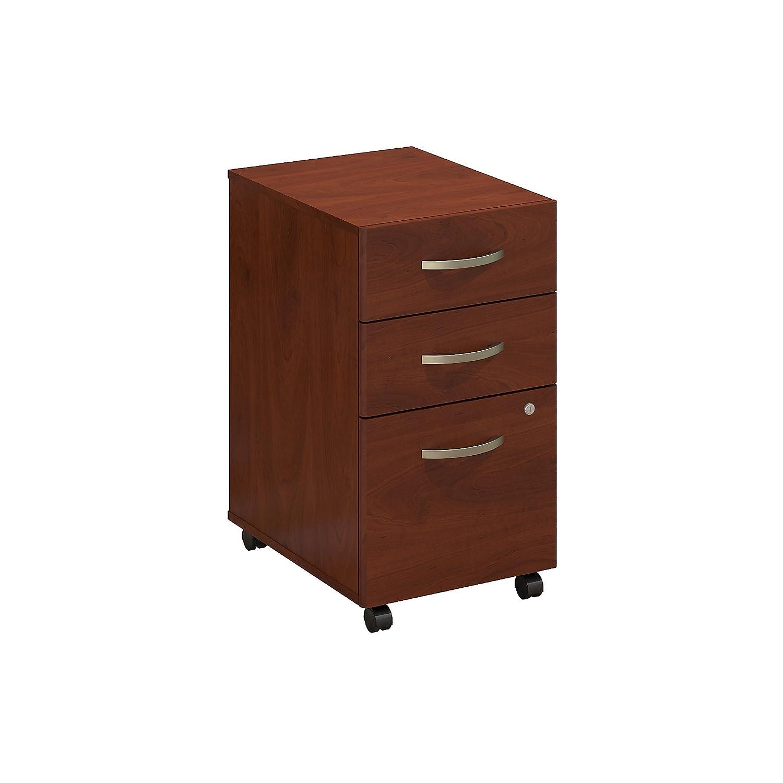 Bush Business Furniture Series C Elite 3 Drawer Mobile File Cabinet in in, Hansen Cherry
