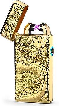 1 EDAH/® Briquet Arc Briquet Electrique Hi-Briquet Coupe-Vent Rechargeable USB E