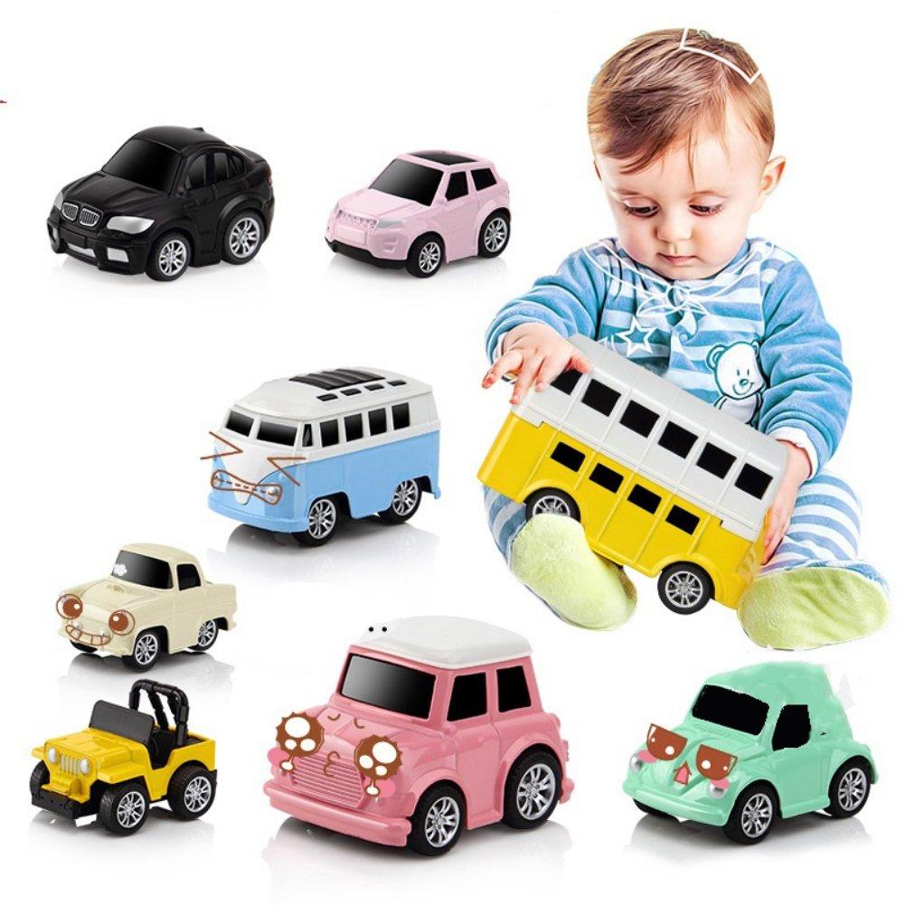 Luxsea 4 PCS Pull Back Cars Alloy Vehicles Set Mini Car Model Construction and Raced Trucks