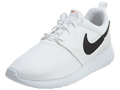 df45889f155c Nike Roshe One (GS) Big Kid s Shoes White Black Safety Orange 599728
