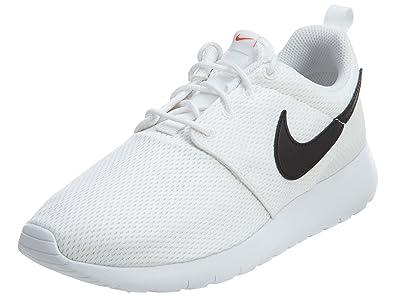 uk availability 9f15e b95d2 Nike Roshe One (GS) Big Kids Shoes WhiteBlackSafety Orange 599728