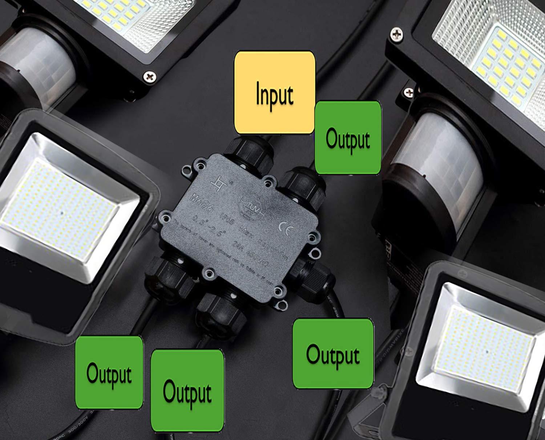 2 Packs of 2 Way Boxes 1 Connecteur de c/âble /électrique /étanche 24 A 450 V AC IP68