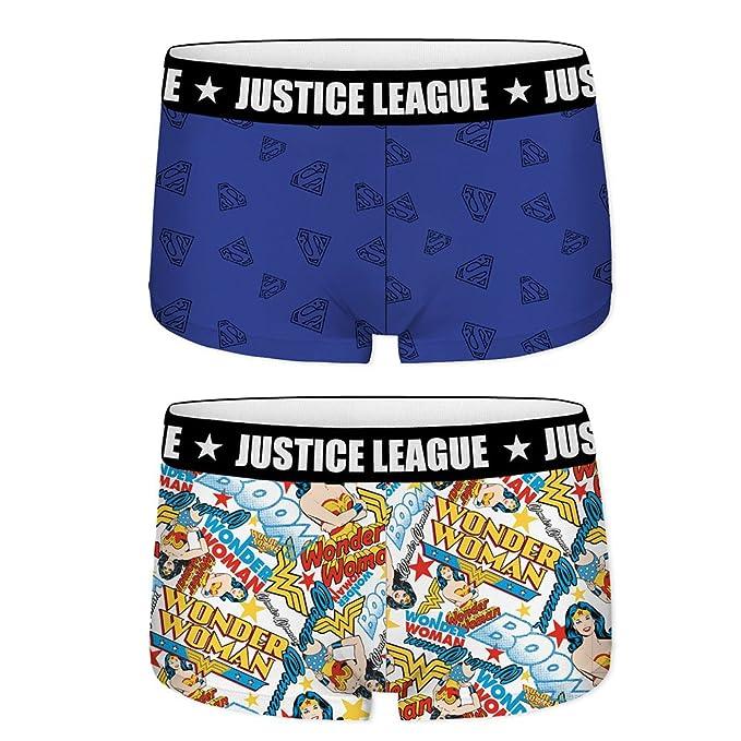 Justice League Pack de 2 Braguitas Bóxers de Algodón para Niñas Superman Wonder Woman: Amazon.es: Ropa y accesorios