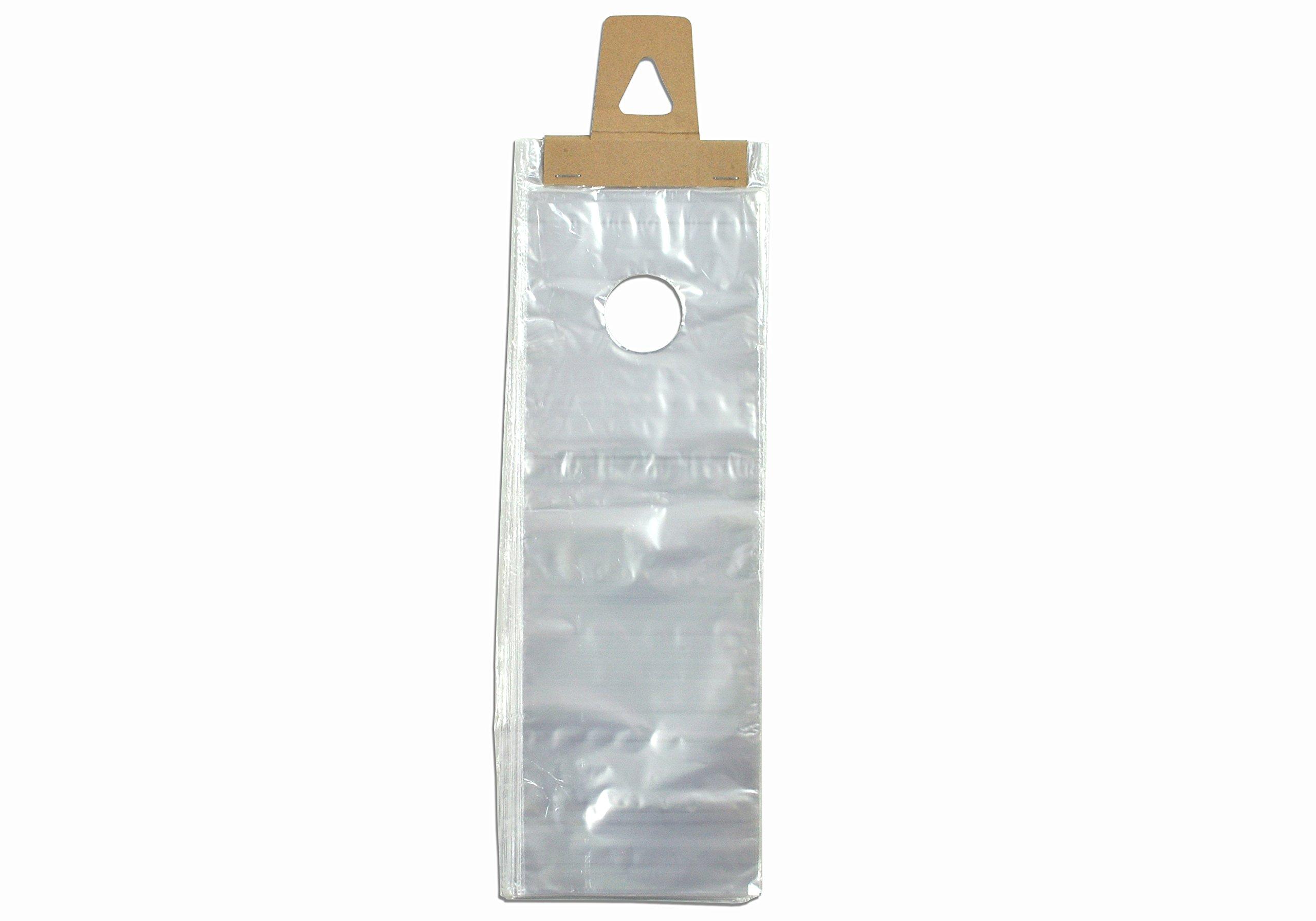 Elkay D15HD 0.45 mil High Density Doorknob Bag, 5 1/2'' x 15'' + 1 1/2 LP, Clear (Pack of 2000)