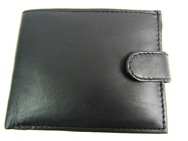 cartera cadena cuero negro lujo alta calidad hombres Emporium 172