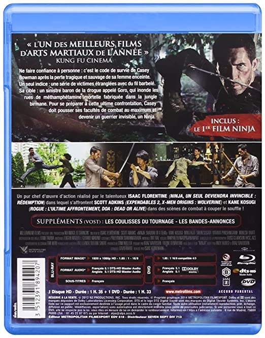 Ninja II : Shadow of a Tear [Francia] [Blu-ray]: Amazon.es ...