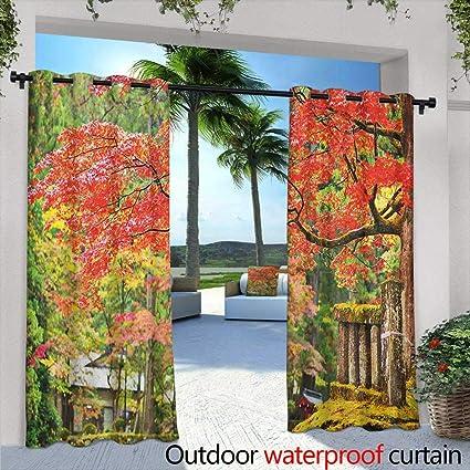 Amazon.com  LOVEEO Japanese Doorway Curtain Autumn Scenery