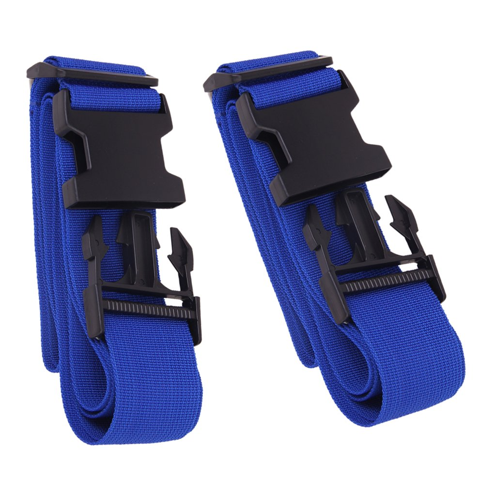 Jili Online 2pcs 69inch High Strength Adjustable Nylon Luggage Straps Suitcase Belts Travel Accessories