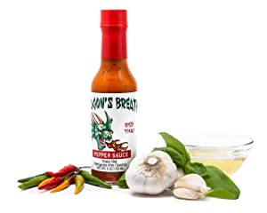 Dragon's Breath Hot Pepper Red Thai Sauce Featuring Birds Eye Chili Peppers with Spicy Bold Flavor (Red Thai)