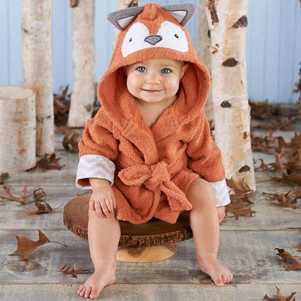 MOZHIYAN Toalla de beb/é Toalla de ba/ño para ni/ños con Capucha para beb/és Modelado de Animales Bata de ba/ño Pijamas de Dibujos Animados para beb/és,b/úho Rojo