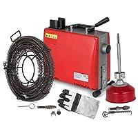 "Anhon 3/4""-4"" Rohrreinigungsmaschine 400PRM 220v 250W/700W Snake Rohrreinigungsmaschine mit 40 'x 3/5' 'Kabel und 20' x 3/10 '' Kabel (GQ100AA)"
