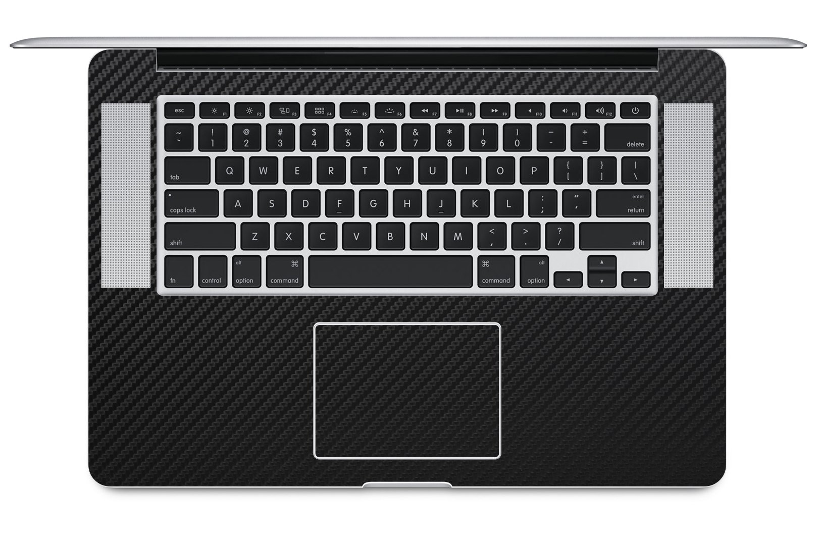 iCarbons Black Carbon Fiber Vinyl Skin for MacBook Pro 15'' Retina Full Combo by iCarbons (Image #2)