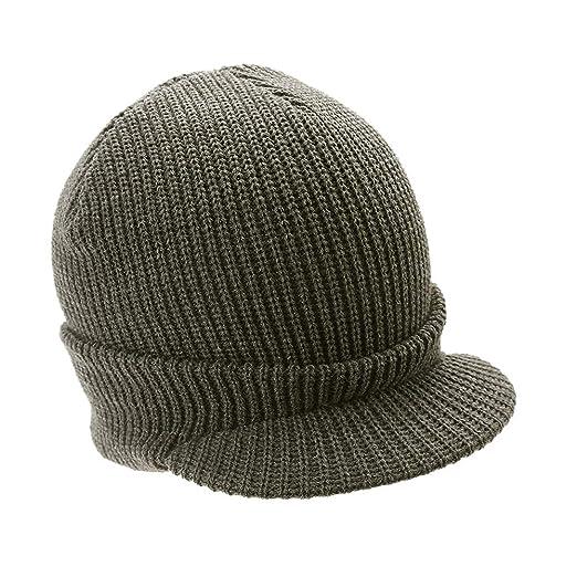 Mens Knit Campus Jeep Radar Hat Knit Cap Visor Hats Billed Beanie ... 6a9afa236ca5