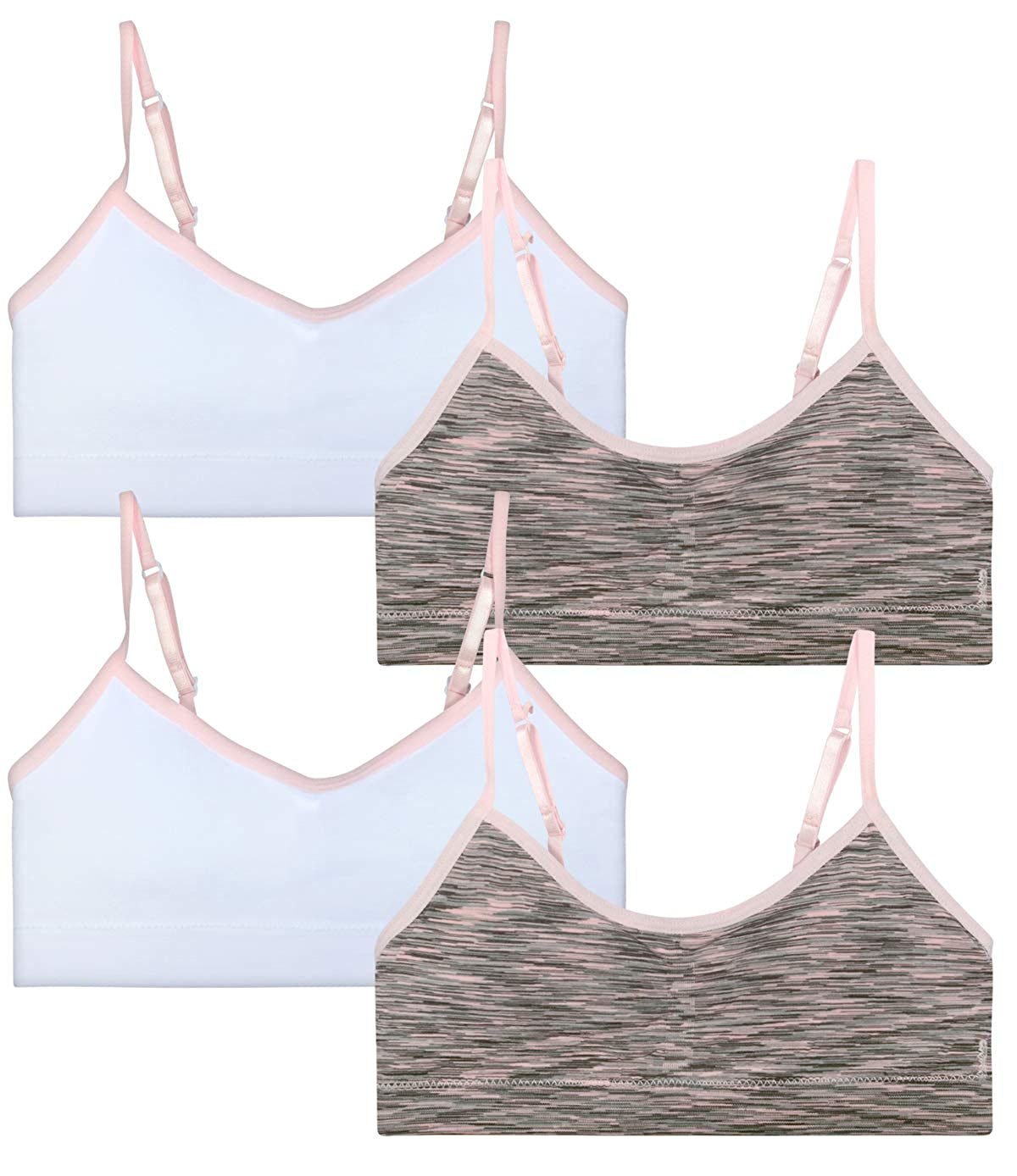 Rene Rofe Girl Seamless Training Bra with Removable Pads 4 Pack