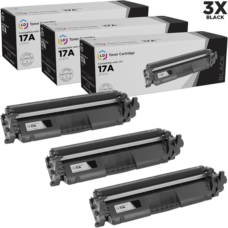 5pk Comp Black Laser Toner Cartridge w//chip for HP CF217A 17A MFP M130fn M130fw