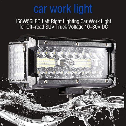 LyhomeO Led Luz De Trabajo 12 Led Lámpara Trabajo Bar Foco ...