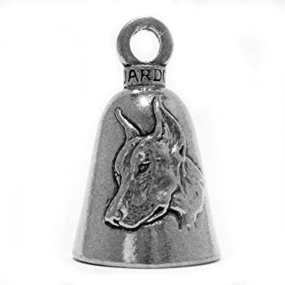 Guardian Doberman Dobermann Dobi Breed Dog Motorcycle Biker Luck Gremlin Riding Bell or Key Ring: Automotive