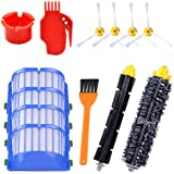 KEEPOW Replacement Parts Kit for iRobot Roomba 600 Series 690 680 671 675 660 655 650 630 620 610 Robotic Vacuum (4 Side Brushes,4 Hepa Filters,1 Flexible Beater Brush,1 Bristle Brush,2 Cleaning Tool)