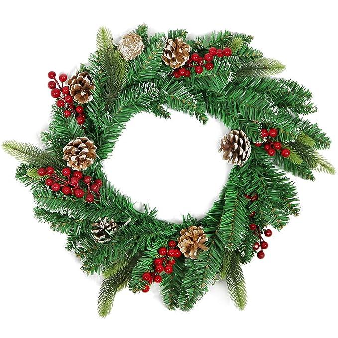 Luxus Edel Tannen Girlande 24 Zapfen dicht Tür Fenster Weihnachts Dekoration