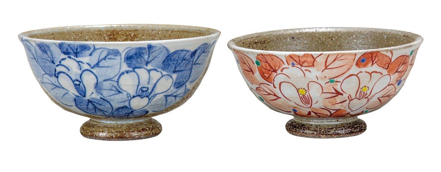 KUTANI Ware Ricebowl / Camellia