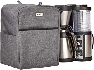 HOMEST Coffee Maker Dust Cover with Accessory Pockets Compatible with Ninja Foodi CE201, CP307, CM407BRN, Grey (Patent Pending)