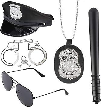 Beelittle Accesorios de Disfraz de policía Sombrero de policía ...