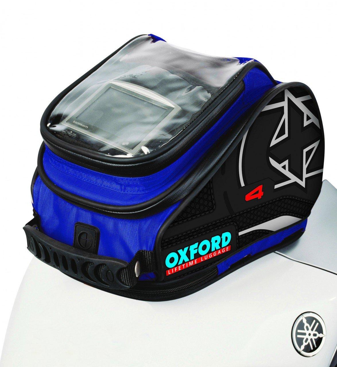 Oxford OL177 X4 Blue Magnetic Tank 'N' Trailer Motorcycle Bag