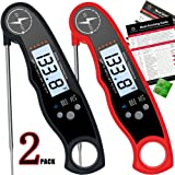 ANSKANI Instant Read Digital Meat Thermometer (2 PACK) Waterproof Kitchen Cooking Food Thermometer with Probe Backlight & Calibration,Best Quick Grill Meat Thermometer for Grilling BBQ Smoker Chefs