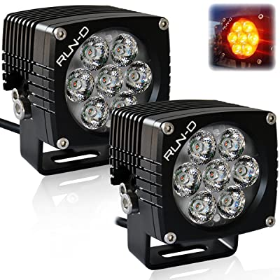 RUN-D Amber Cube Led Driving Lights 3 inch CREE Off Road Lights (Amber LED) - 1 Pair: Automotive