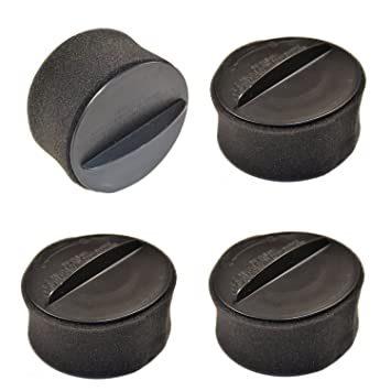 .com - hqrp 4-pack circular filter set for bissell 98n4 ...