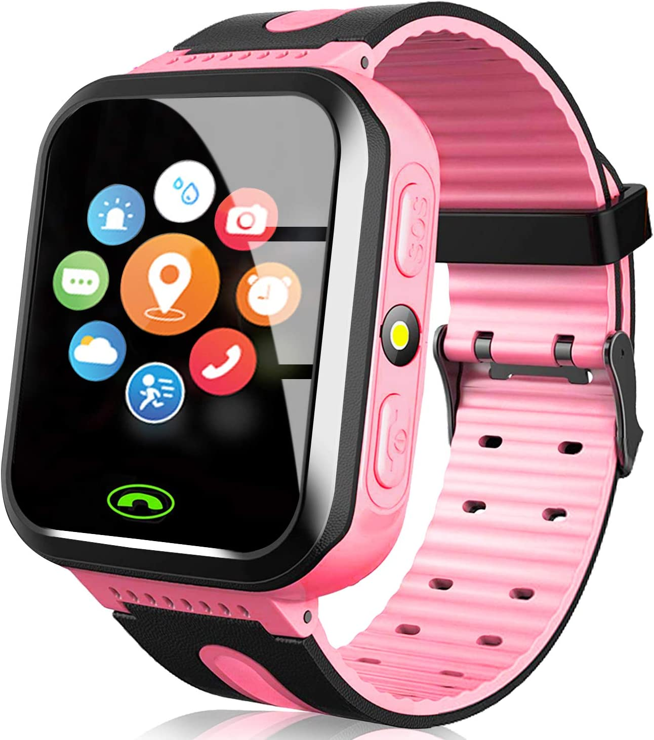 AMENON Kids Smart Watch GPS Tracker - Kids Phone Smartwatch for Boys Girls 3-12 Years Old with Call SOS Anti-Lost Games, Child Cellphone Wrist Watch ...