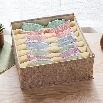 Plegable ropa interior sujetador caja de almacenamiento casa caja de almacenamiento compartimento corbata, calcetines, ropa interior, para ordenar caja: ...