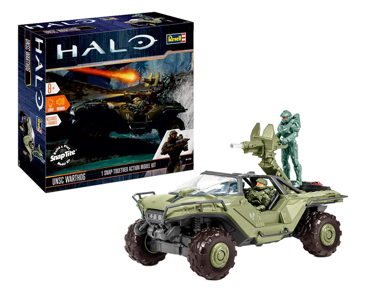 UNSC Warthog (Halo) 1:32 Scale Level 2 Revell Model Kit: Amazon com