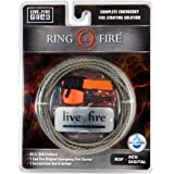 Ring O Fire by Live Fire Gear - 550 Paracord with a Fire Starting Strand, Live Fire Original Fire Starter, Ferrocerium Rod and Striker