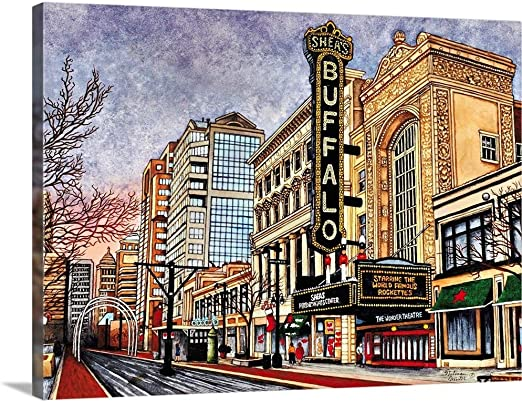Amazon Com Shea S Buffalo Buffalo Ny Canvas Wall Art Print 16 X12 X1 25 Posters Prints