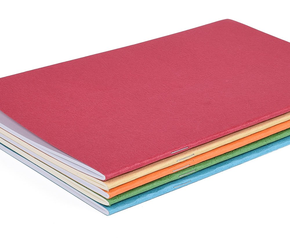 """5 Pack Colorful Soft Cover Writing Notebook Journal Diary Notebook Daily Notepad, Lined Pages, A5 Size, 8.3""""x 5.5"""", 30 Sheets/60 Pages by koboome (Image #2)"""