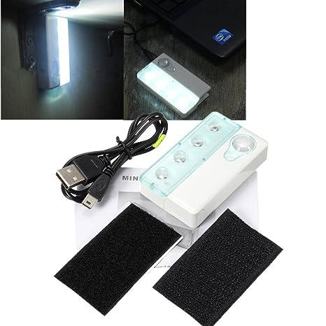 SOLMORE 4LED Bombilla de movimiento por infrarrojos con sensor de luz LED cuerpo/vista del