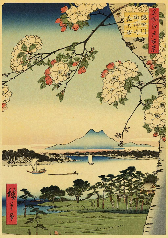 AAGG Pintura colgante Estilo Antiguo Japonés Cartel Kraft ...