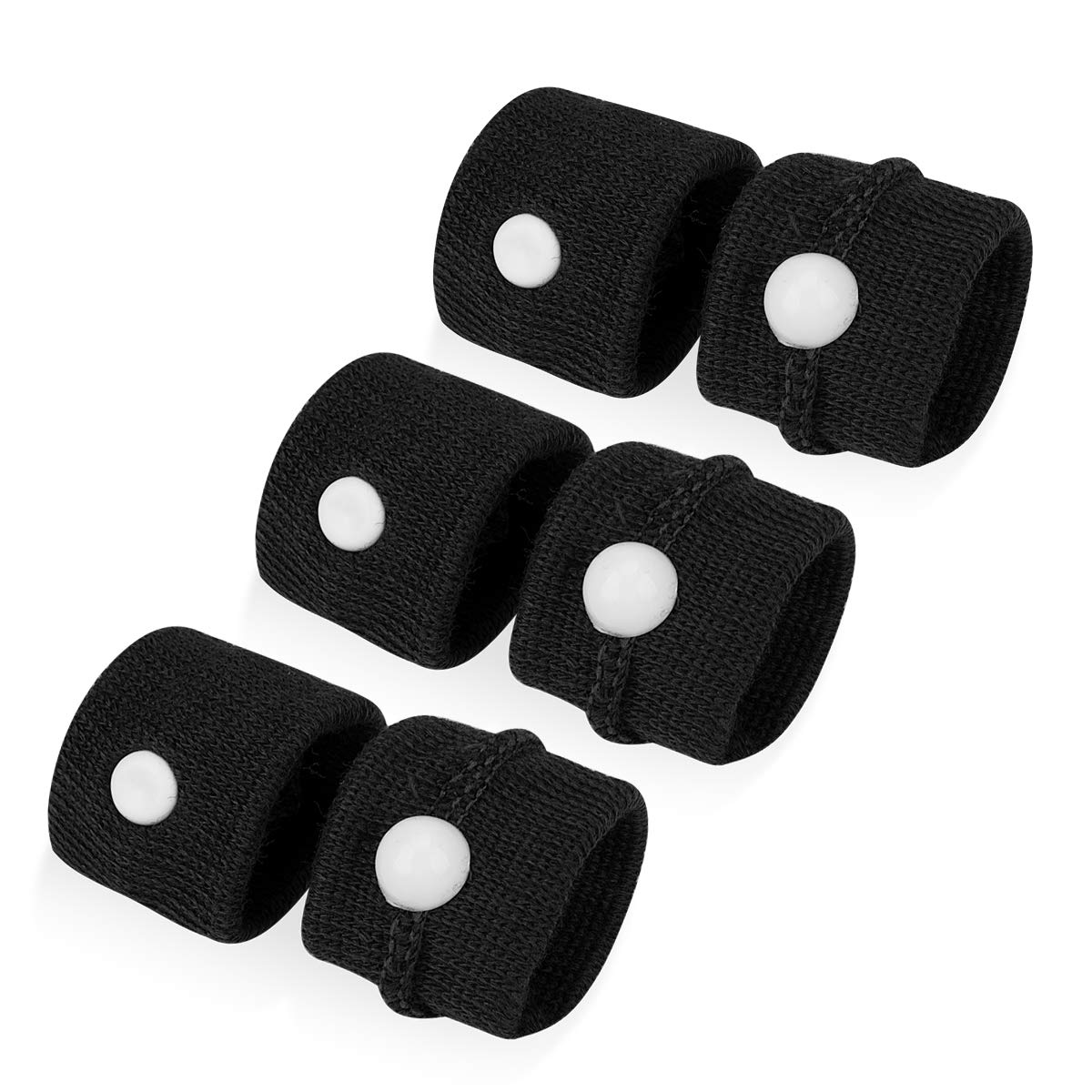 Hapdoo Wristbands for Morining Sickness Travel Motion Sick Car Flying Bus Sea 3 Pairs Black Adults Anit-Nausea Relief