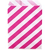 Dress My Cupcake 24-Pack Party Favor Bags, Striped, Fuchsia Pink